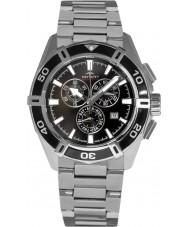 Rotary AGB90089-C-04 Mens AQUASPEED reloj cronógrafo de plata negro pacífico