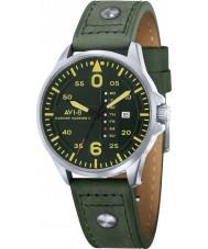 AVI-8 AV-4003-09 Mens Hawker Harrier reloj de la correa de cuero verde ii ejército
