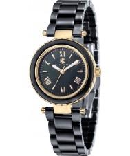 Klaus Kobec KK-10006-05 oro señoras de venus y reloj de cerámica negro