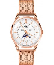 Henry London HL39-LM-0162 blanco Richmond subió reloj de oro