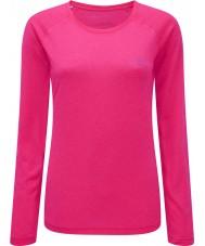 Ronhill RH-001956R027-8 Para mujer de color rosa fluo vizion movimiento camiseta larga de la manga - el tamaño de uk 8 (x)