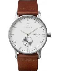 Triwa FAST103-CL010212 Marfil reloj de la correa de cuero marrón Falken