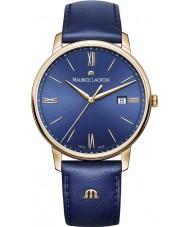 Maurice Lacroix EL1118-PVP01-411-1 Mens Eliros azul reloj de la correa de cuero