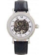 Krug-Baumen 60112KM el prestigio de cuero para hombre negro reloj de la correa