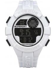 Superdry SYG193W reloj de la correa de silicona blanca digital de radar para hombre