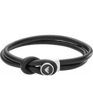 Emporio Armani EGS2212040 Para hombre de la firma pulseras de cuero negro