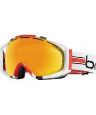 Bolle 20975 Gravedad rayas blancas - gafas de esquí cítricos oro