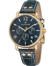 Thomas Earnshaw ES-8001-06 reloj cronógrafo para hombre de cuero verde investigador
