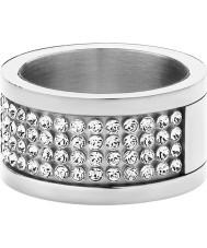 Dyrberg Kern 330961 anillo de cristal de acero de plata damas Emily ii