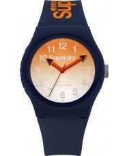 Superdry SYG198UO reloj de la correa de silicona azul marino urbana damas