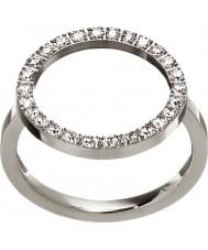 Edblad 3151441907-S Las señoras brillan anillo de acero de plata - tamaño n (s)