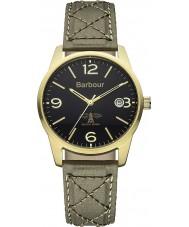 Barbour BB026GRGR Mens alanby reloj correa de tela verde