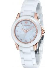 Klaus Kobec KK-10008-02 Señoras Vesta oro rosa y reloj de cerámica blanca