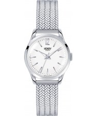 Henry London HL25-M-0013 Damas Edgware reloj de plata blanco