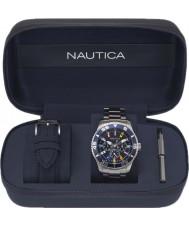 Nautica NAPWHC001 Juego de regalo para reloj con tapa blanca para hombre