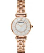 Emporio Armani AR1909 Damas se levantaron reloj de vestir brazalete de eslabones chapados en oro