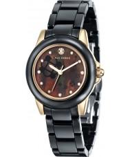 Klaus Kobec KK-10008-03 Señoras de oro Vesta y reloj de cerámica negro