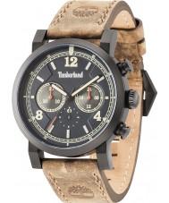 Timberland 14811JSB-19 Mens Templeton cuero marrón reloj de la correa