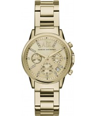 Armani Exchange AX4327 Vestido de las señoras de oro plateado reloj cronógrafo