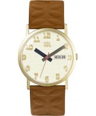 Orla Kiely OK2134 Madison damas de cuero correa de reloj de bronceado