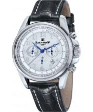 Thomas Earnshaw ES-8028-10 Mens comodoro de cuero negro reloj cronógrafo