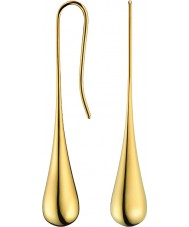 Calvin Klein KJ3QJE100100 Señoras de oro elipse pendientes plateados