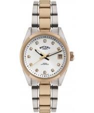 Rotary LB02662-02 Relojes de La Habana en dos tonos de rosa reloj de oro
