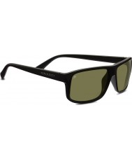 Serengeti Claudio negro brillante gafas de sol polarizadas 555nm