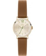 Orla Kiely OK2018 Frankie damas reloj de la correa de cuero marrón