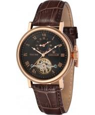 Thomas Earnshaw ES-8047-04 Mens Beaufort reloj correa de cuero marrón de barro
