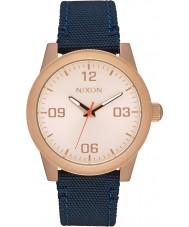 Nixon A964-2160 reloj de correa de nylon azul marino gi damas