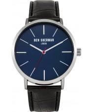 Ben Sherman WB054B Reloj para hombre de la correa de cuero negro
