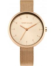 Karen Millen KM135RGM Damas se levantaron reloj pulsera chapado en oro