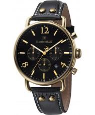 Thomas Earnshaw ES-8001-01 reloj cronógrafo de cuero negro para hombre del investigador
