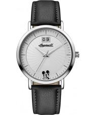 Disney by Ingersoll ID00501 Señoras de la unión de cuero negro de la PU correa de reloj