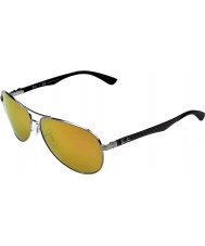 RayBan gafas de sol Rb8313 61 tecnología de fibra de carbono bronce de oro espejo 004-n3 polarizadas
