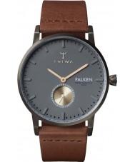 Triwa FAST102-CL010213 reloj de la correa de cuero marrón Falken Walter