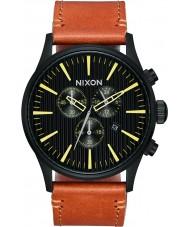 Nixon A405-2664 reloj de cuero de centinela para hombre