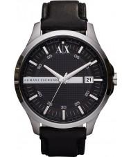 Armani Exchange AX2101 reloj del vestido de la correa de cuero negro de los hombres