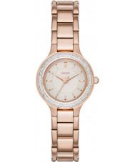 DKNY NY2393 cámaras de señoras reloj chapado en oro rosa