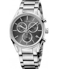 Calvin Klein K4M27143 Mens formalidad reloj cronógrafo de plata