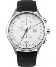 French Connection FC1266B Reloj para hombre de la correa de cuero negro