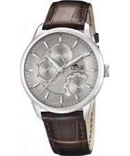 Lotus 15974-2 Para hombre gris marrón reloj multifunción