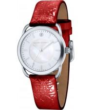 Klaus Kobec KK-10010-02 Damas patrón embross reloj de la correa de cuero rojo Evelyn