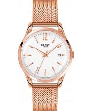 Henry London HL39-M-0026 Blanco Camiseta de Richmond subió reloj de oro