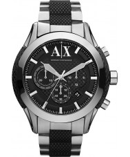 Armani Exchange AX1214 negro plata reloj cronógrafo de los deportes de los hombres