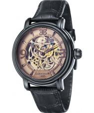 Thomas Earnshaw ES-8011-08 reloj de la correa de cuero negro para hombre longcase