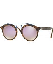 RayBan Rb4256 49 Gatsby gafas de sol de espejo mate Habana 6266b0 lila