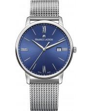 Maurice Lacroix EL1118-SS002-410-1 Mens Eliros reloj de plata brazalete de acero