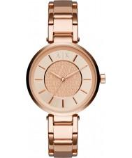 Armani Exchange AX5317 Señoras urbanas aumentaron reloj pulsera chapado en oro